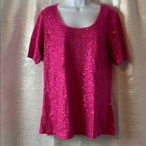 Short sleeve all over sequin top sz 10/12
